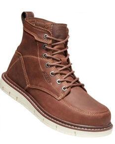 Keen Women's San Jose Work Boots - Soft Toe, Brown, hi-res