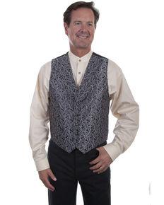 Rangewear by Scully Men's Shawl Collar Vest , Grey, hi-res