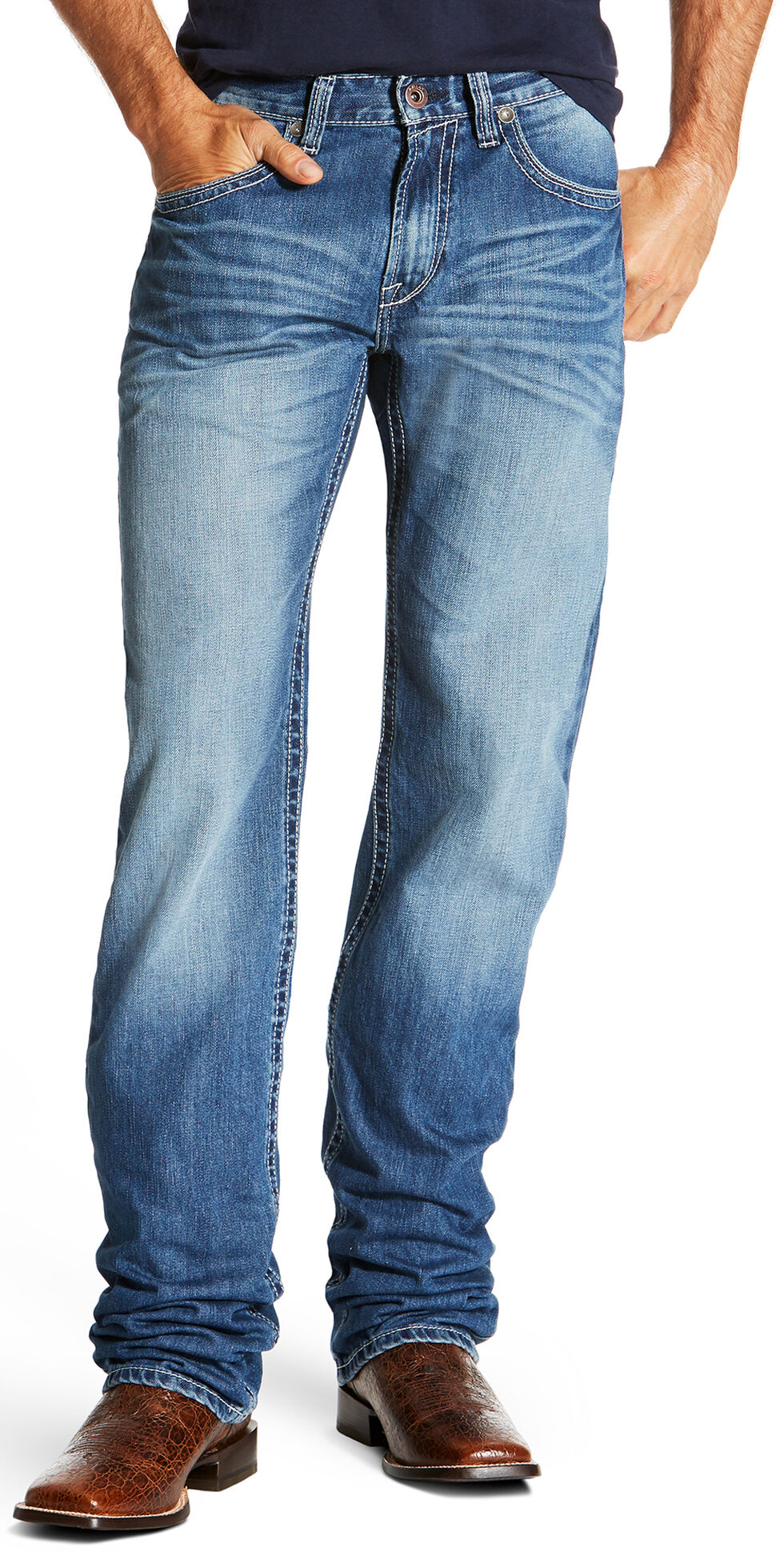 Ariat Men's M2 Cody Relaxed Fit Boot Cut Jeans, Indigo, hi-res