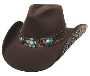 Bullhide Sweet Emotion Wool Cowgirl Hat, Chocolate, hi-res