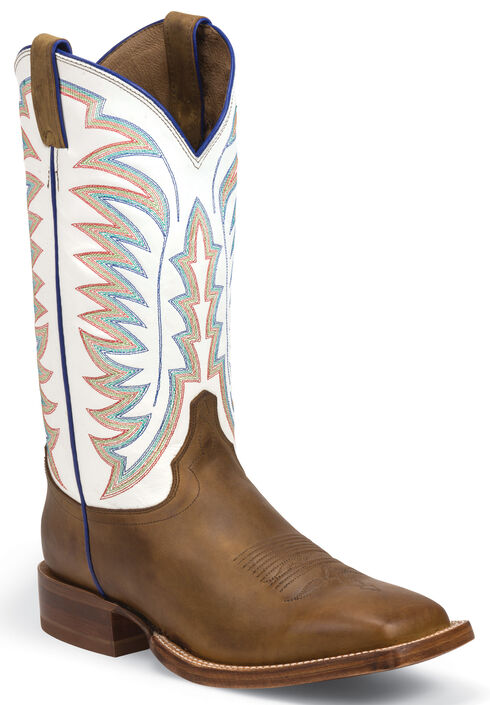 Justin Golden Brown Tack Stampede CPX Cowboy Boots - Square Toe , Golden Tan, hi-res