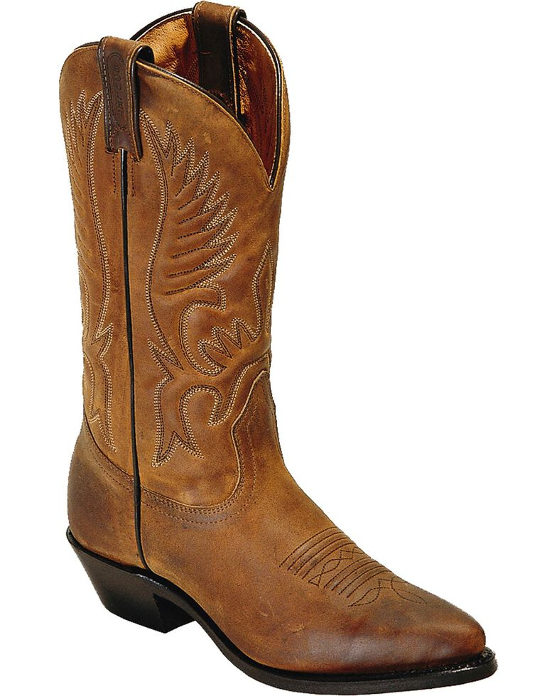Boulet Challenger Cowgirl Boots - Pointed Toe, Golden Tan, hi-res