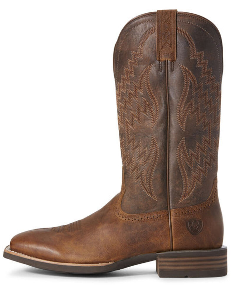 Ariat Men's Tycoon Sorrel Western Boots - Wide Square Toe, Brown, hi-res