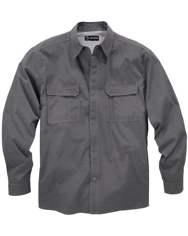 Dri Duck Men's Field Long Sleeve Work Shirt, Black, hi-res