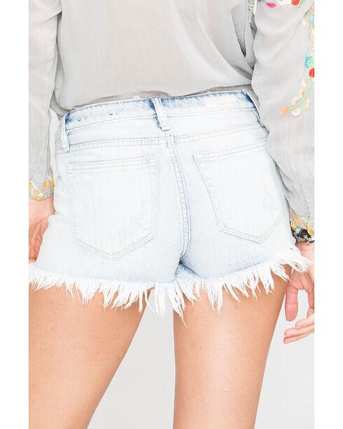 Miss Me Frayed Cut Off Shorts, Indigo, hi-res