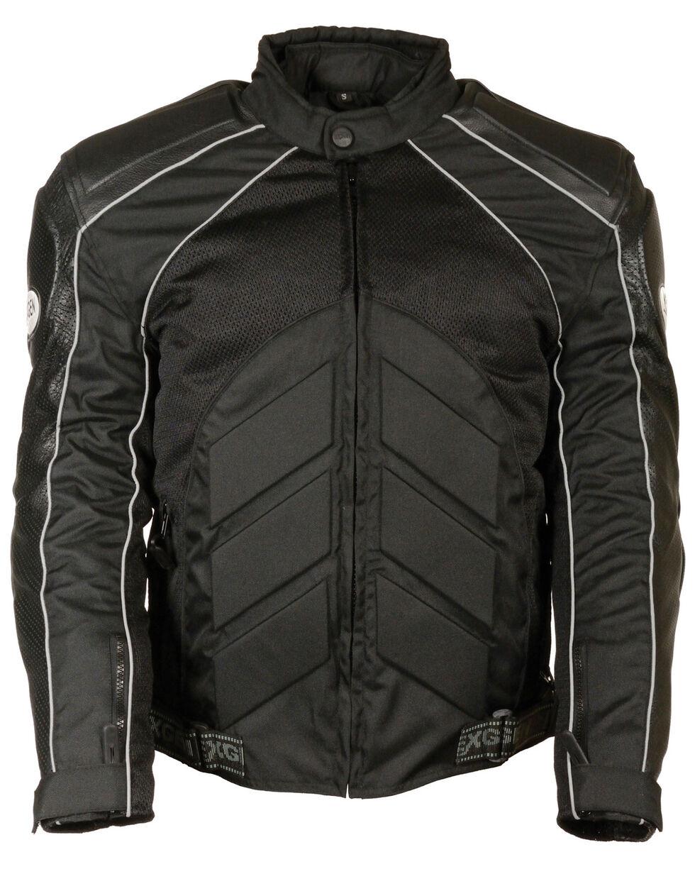 Milwaukee Leather Men's Combo Leather Textile Mesh Racer Jacket - 3X, , hi-res