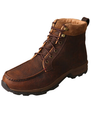 Twisted X Men's Waterproof Hiker Boots - Moc Toe, Chocolate, hi-res