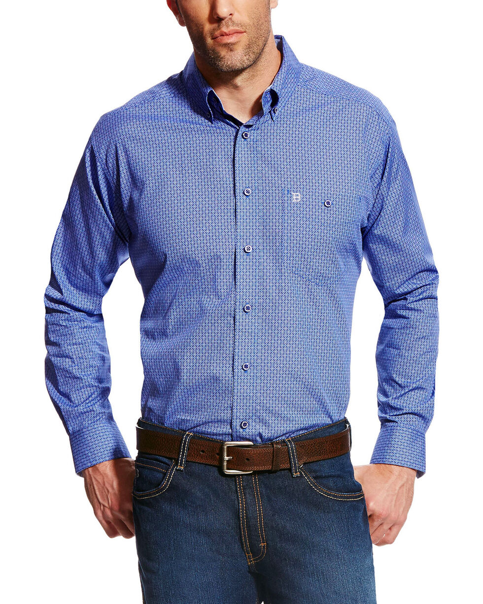 Ariat Men's Blue Vanquisher Wrinkle Free Western Shirt , Blue, hi-res