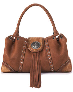 M&F Western Women's Ella Blazin Roxx Shoulder Bag, Brown, hi-res