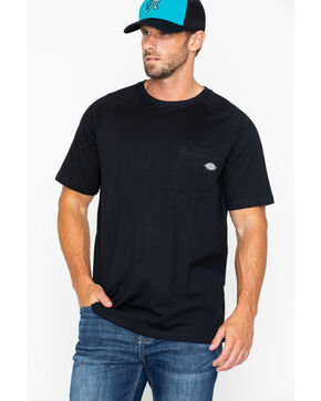 Dickies Men's Temp-IQ Performance Cooling T-Shirt - Tall, Black, hi-res