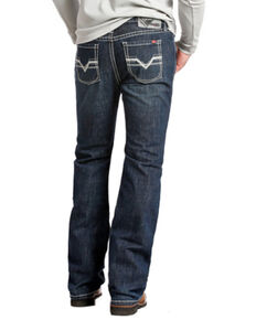 Rock and Roll Denim Men's Pistol Regular Fit Flame Resistant Jeans - Boot Cut , Indigo, hi-res