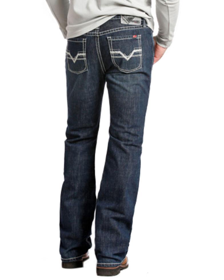 Rock and Roll Denim Men's Pistol Regular Fit Flame Resistant Jeans - Boot Cut , Indigo, hi-res