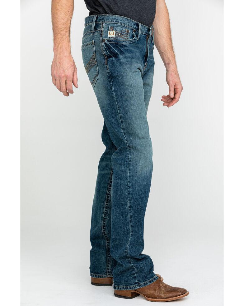 Cinch Men's Ian Medium Mid Rise Slim Bootcut Jeans , Indigo, hi-res