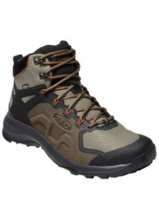 Keen Men's Explore Waterproof Hiking Boots - Soft Toe, Brown, hi-res