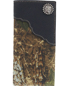 HOOey Men's Roughy Rodeo Camo Wallet, Camouflage, hi-res