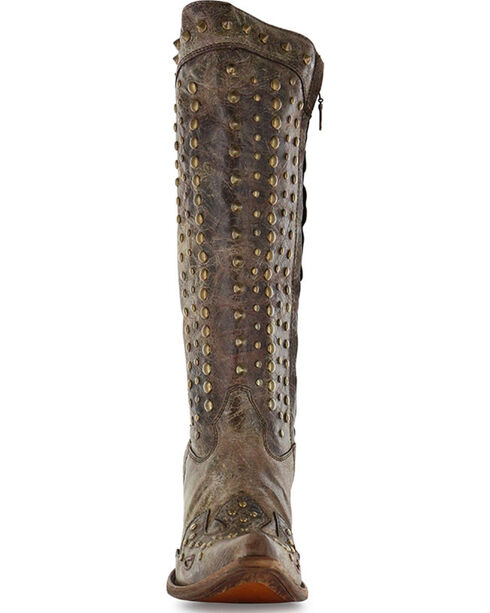 Corral Women's Stud Fashion Western Boots - Snip Toe , Chocolate, hi-res