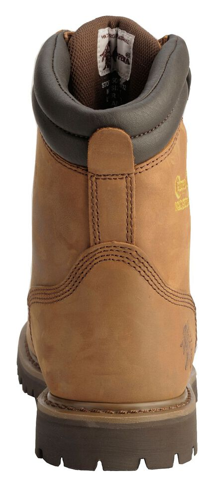 "Chippewa Heavy Duty Waterproof & Insulated Aged Bark 8"" Work Boots - Round Toe, Bark, hi-res"