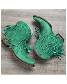 Junk Gypsy by Lane Women's Spitfire Turquoise Fashion Booties - Snip Toe, Turquoise, hi-res