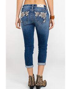 8199c75d32a Miss Me Womens Floral Paradise Mid-Rise Capri Jeans