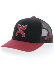 HOOey Men's Black Sterling Logo Mesh Ball Cap , Black, hi-res