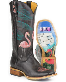 Tin Haul Women's Trailerhood Cowgirl Boots - Square Toe, Black, hi-res
