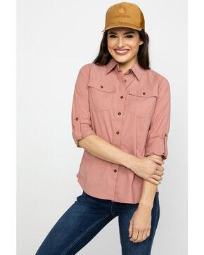 Carhartt Women's Red Rugged Flex Bozeman Shirt, Dark Red, hi-res