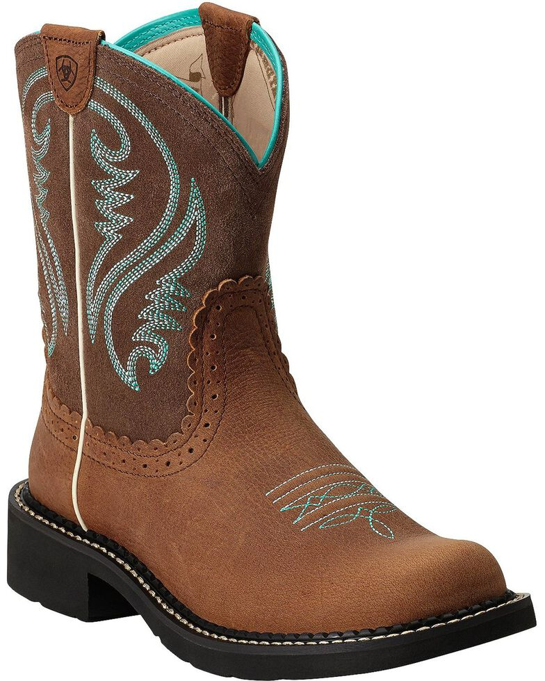 Ariat Women's Fatbaby Heritage Cowgirl Boots, Espresso, hi-res