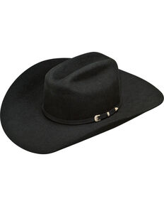 Ariat Men's Wool Cowboy Hat , Black, hi-res
