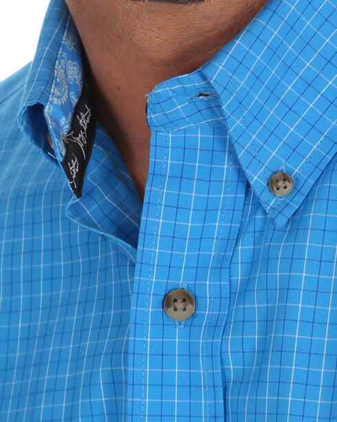 Wrangler Men's George Strait Long Sleeve Button Down Plaid Shirt - Tall, , hi-res