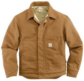 Carhartt Flame Resistant Midweight Canvas Dearborn Jacket - Big & Tall, Brown, hi-res