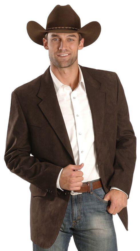Domini Men's Microsuede Western Jacket , Brown, hi-res