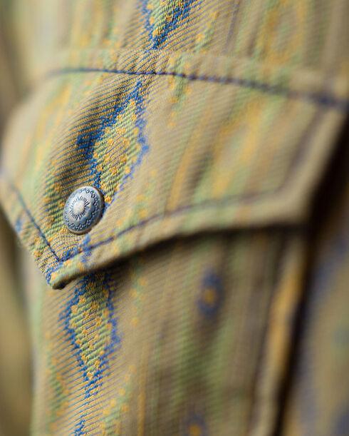 Ryan Michael Men's Olive Mesa Jacquard Shirt , Olive, hi-res