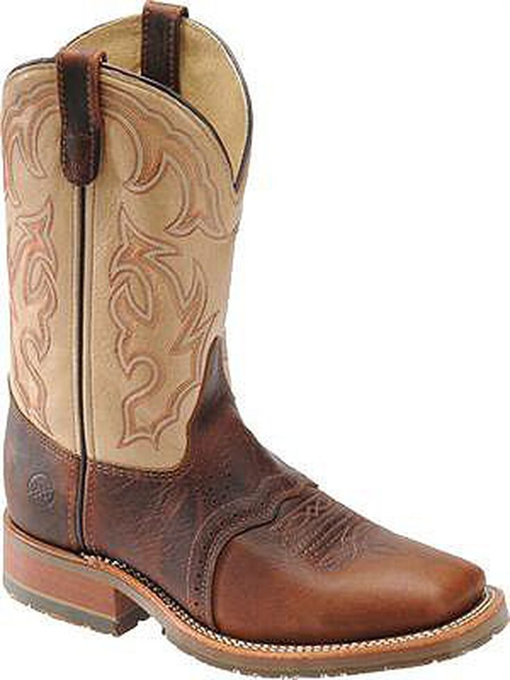 Double H Men's Ice Saddle Cowboy Boots - Square Toe, Bison, hi-res