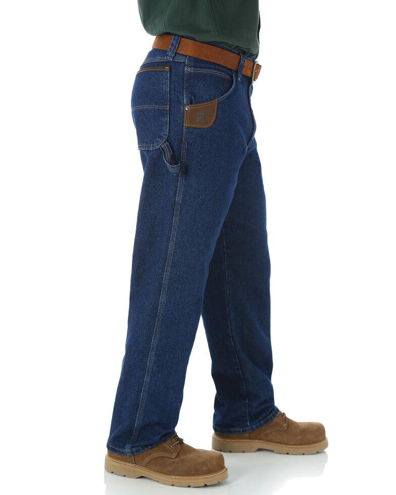 Wrangler Jeans Men's Riggs Workwear Relaxed Carpenter Work Jeans- Big  , Blue, hi-res