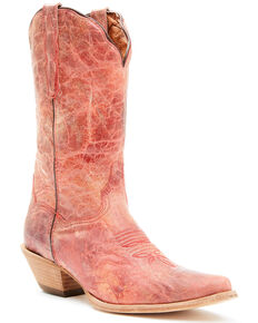 Dan Post Women's Red Colleen Western Boots - Snip Toe, Red, hi-res