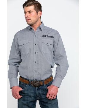 Jack Daniel's Men's Geo Print Embroidered Long Sleeve Western Shirt , Black, hi-res