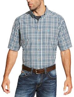 Ariat Men's Navy Izzy Shirt Short Sleeve Shirt , Navy, hi-res