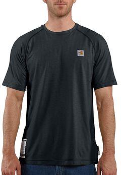 Carhartt Flame Resistant Force Short Sleeve Work T-Shirt - Big & Tall, Navy, hi-res