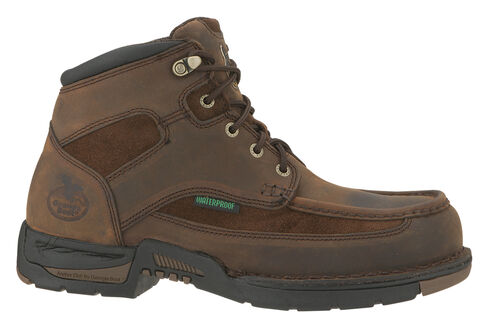 Georgia Athens Waterproof Work Boot - Round Toe, Brown, hi-res