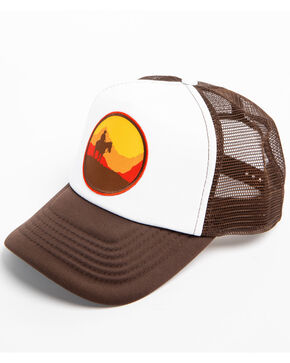 Cody James Men's Western Sunset Trucker Cap, Brown, hi-res
