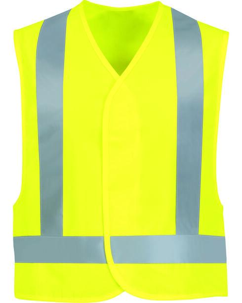 Red Kap Men's Class 2 Hi-Viz Safety Vest, Sunshine, hi-res