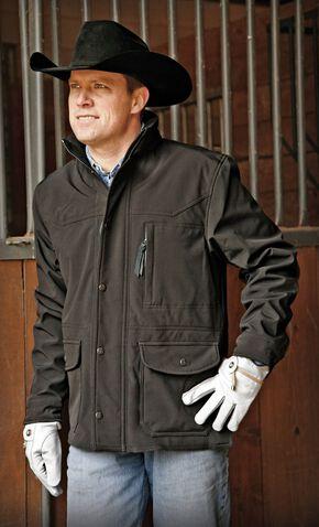 STS Ranchwear Men's Brazos Black Jacket - Big & Tall - 4XL, Black, hi-res