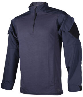 Tru-Spec Men's Navy Urban Force TRU 1/4 Zip Combat Shirt , Navy, hi-res