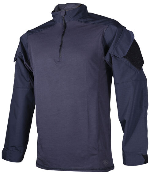 Tru-Spec Men's Navy Urban Force TRU 1/4 Zip Combat Shirt , Navy, hi-res