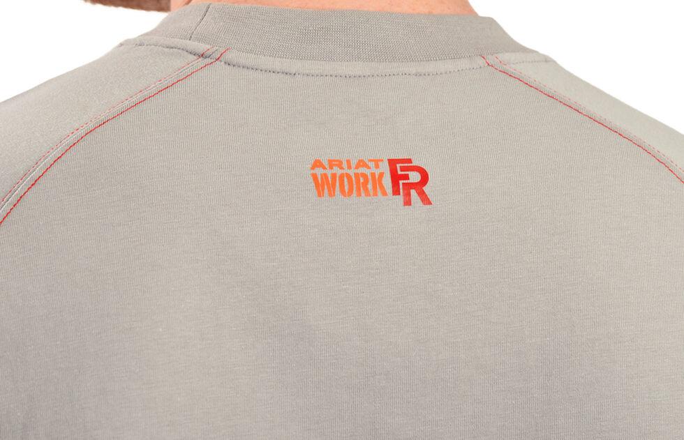 Ariat Men's Flame-Resistant Crew Work Shirt - Big & Tall, Silver, hi-res