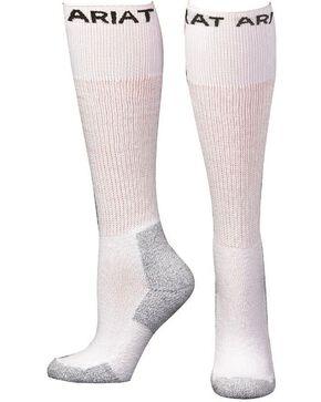 Ariat Men's Over The Calf Socks - 3 Pack, White, hi-res
