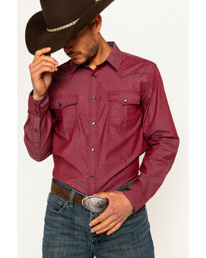 Cody James Men's Toledo Long Sleeve Western Snap Shirt, Red, hi-res