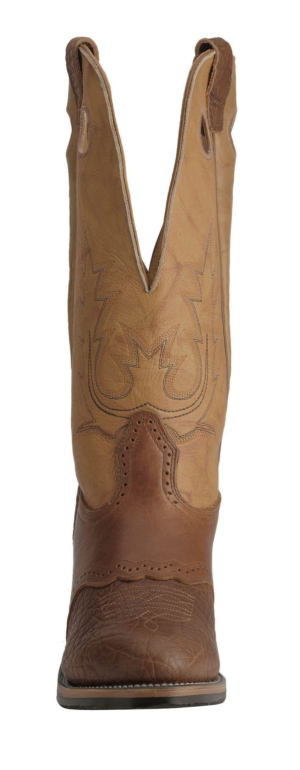 Boulet Buckaroo Saddle Cowboy Boots - Round Toe, Bay Apache, hi-res