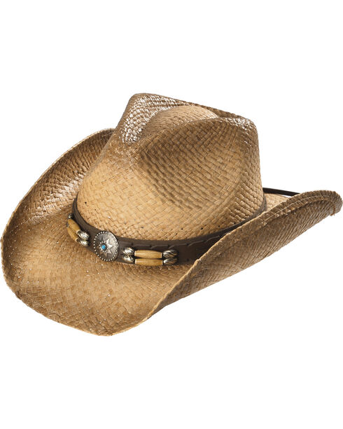 Cody James Contraband Straw Hat, Brown, hi-res