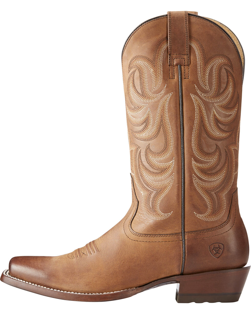 Ariat Men's Taupe Turnback Tarnation Boots - Square Toe , Taupe, hi-res